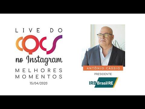 Imagem post: Crises, oportunidades e resseguro. Confira os melhores momentos da live com Antônio Cássio
