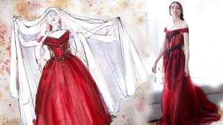 Masque of the Red Death Ballgown Making Process
