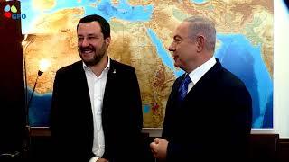 PM Netanyahu Meets Italian Minister of the interior Matteo Salvini