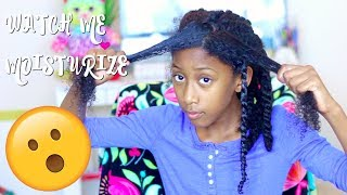 8 Year Old Moisturizes and Style Her Own Hair!!|Little Girls Natural Hair