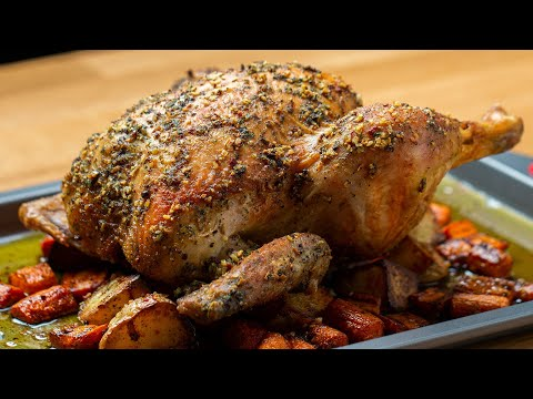 Hearty Whole Roasted Chicken ?Tasty