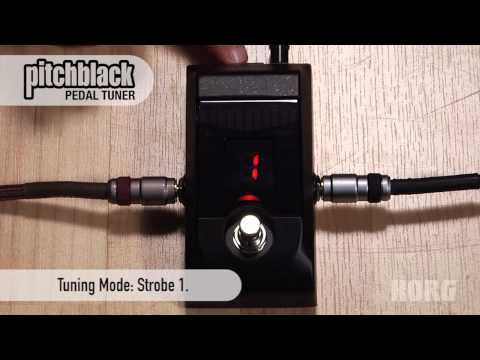 Korg Pitchblack Pedal Tuner Overview -- with Display Modes!