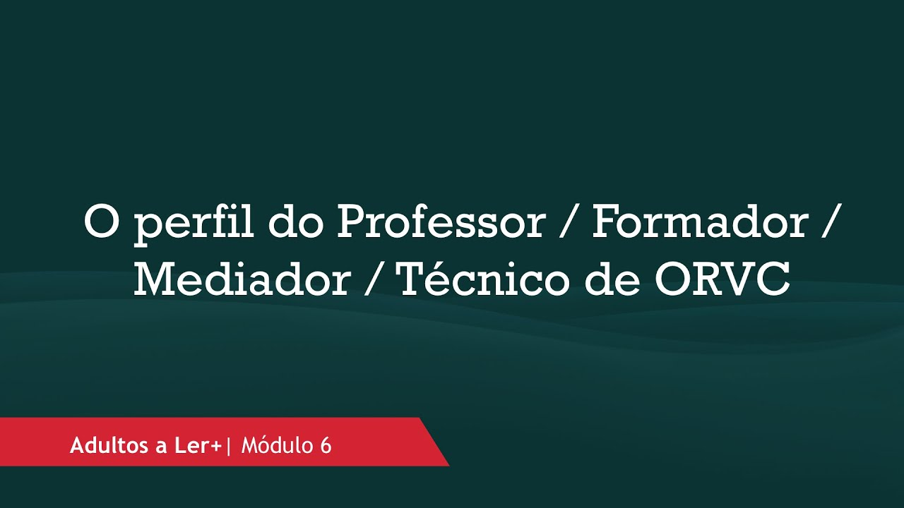 Qual o perfil que deve ter o Professor / Formador / Mediador /  Técnico de ORVC… na EFA?