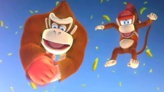 Donkey Kong Country Returns Co-op Walkthrough - World 8 - Volcano (Final Boss Fight & Ending)
