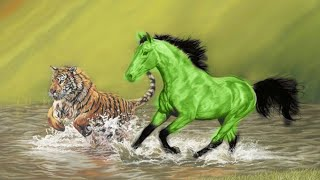 Green Horse VS The Tiger