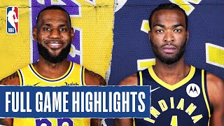 LAKERS at PACERS | FULL GAME HIGHLIGHTS | August 8, 2020