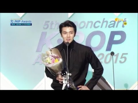 160217 EXO ✪ Gaon Chart K-POP Awards  ♥ 세훈 sehun 。 EXO