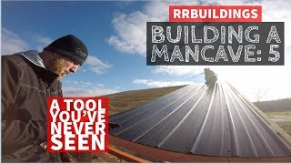 Building a Mancave 5: How to Install a Straight Metal Roof