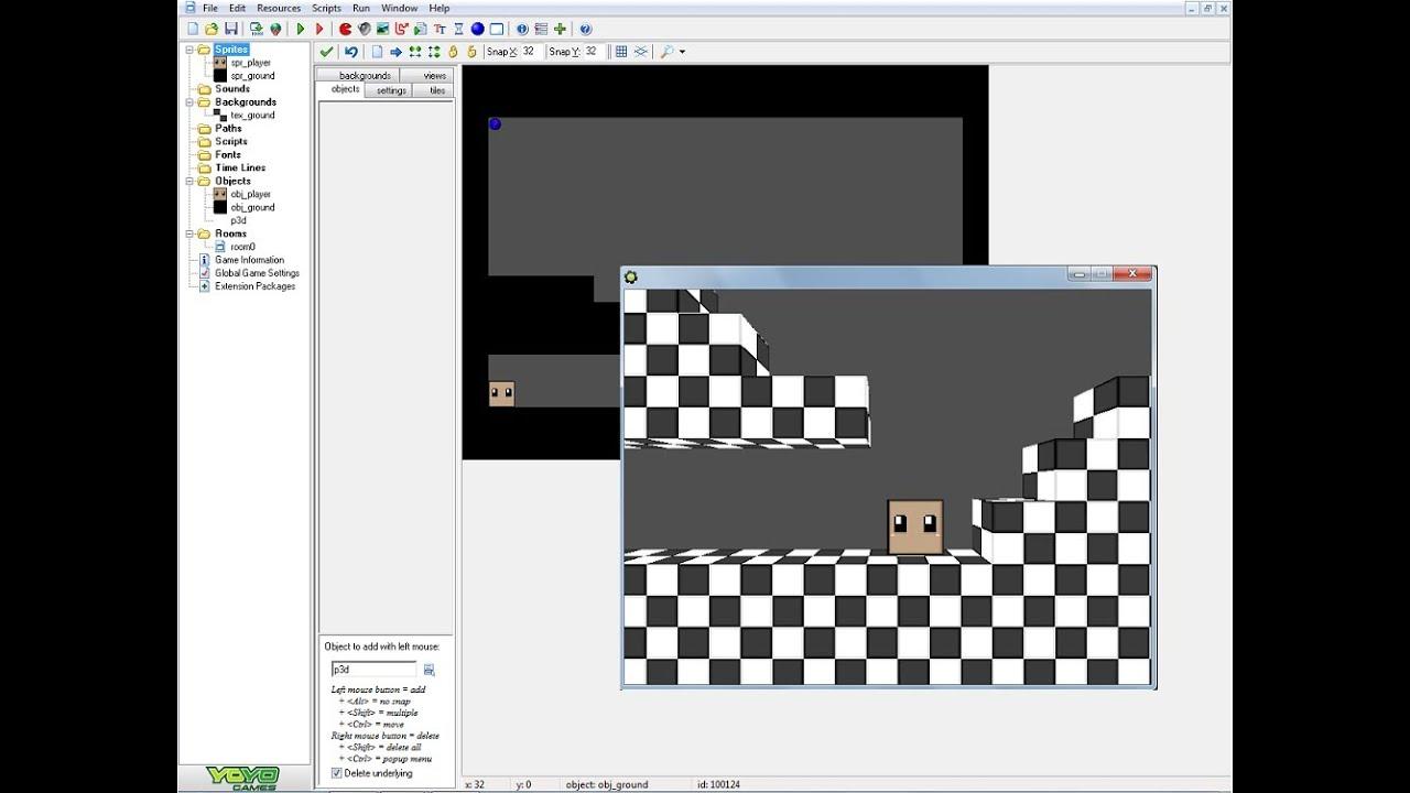 Game maker pro 3d tutorial: 3d platformer youtube.
