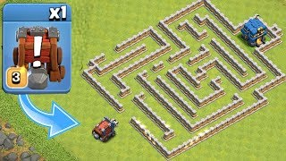 """NEW WALL WRECKER MAZE!!! """"Clash Of Clans"""" CAN YOU SURVIVE!?!"""