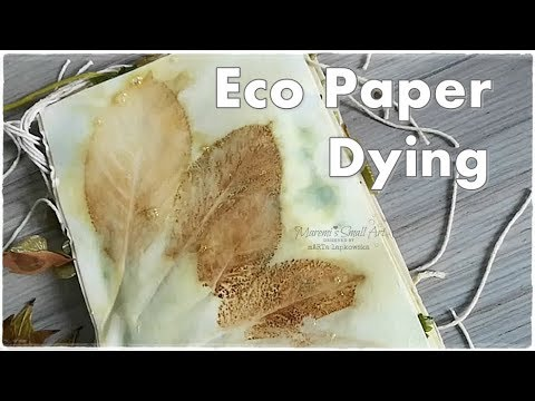 Easy Eco Paper Dying using Plants ♡ Junk Journal Page Ideas ♡ Maremi's Small Art ♡