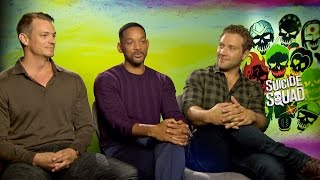 Will Smith, Joel Kinnaman and Jai Courtney talk Suicide Squad