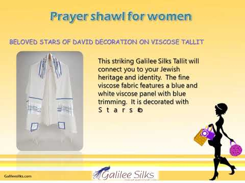 Best design of prayer shawl for women at galileesilks
