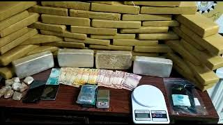 Sete pessoas são presas, com 44 quilos drogas em Bagé, em ação conjunta da PRF, BM e PC