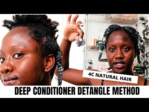 How to DETANGLE and DEEP CONDITION my 4C Natural Hair   JASMINE ROSE