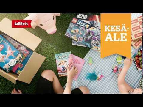 Adlibris Kesäale lelu-mainos