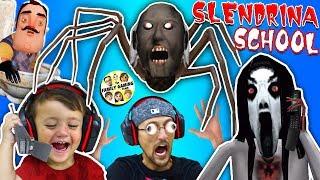 Escape Slendrina's School & Spider Granny House + Creepy Phone Calls w/ FGTEEV Duddy & Shawn