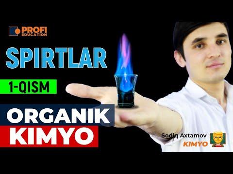 Organik kimyo. SPIRTLAR