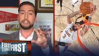 AD drops 42 points as Lakers clinch No.1 seed in West — Nick reacts | NBA | FIRST THINGS FIRST