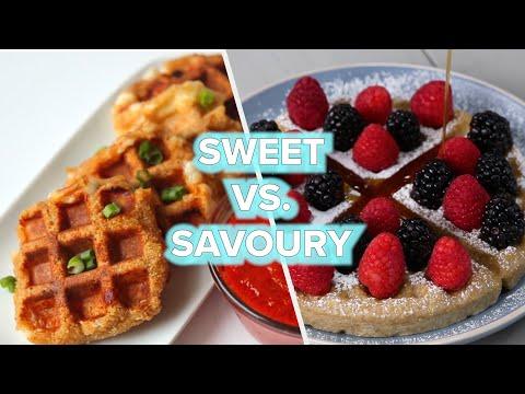 9 Sweet Vs. Savory Waffle Recipes ? Tasty
