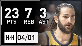 Ricky Rubio Full Highlights Jazz vs Timberwolves (2018.04.01) - 23 Pts, 7 Reb, 3 Ast!