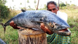 Giant Sea fish curry   World Biggest Fish Curry   How to cook Giant Fish Recipe   Grandpa Kitchen