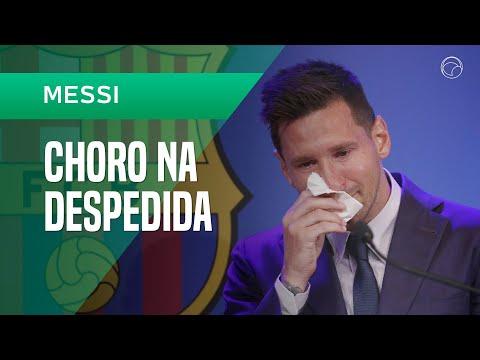 Messi chora em despedida e diz que 'não estava preparado' para deixar Barç