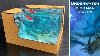 Plane crash Underwater Diorama scale 1:72 Flugzeugabsturz Unterwasser-Diorama Anycubic PHOTON MONO X