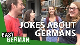 How Germans react to jokes about Germans | Easy German 203