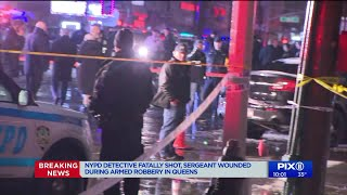 NYPD detective fatally shot, officer injured in Queens during apparent armed robbery: police sources