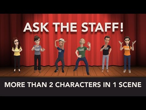 Ask The Staff - More than 2 characters in one scene??