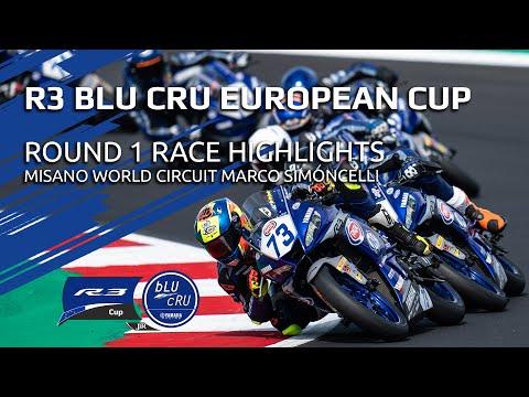 Yamaha R3 bLU cRU European Cup Highlights - Round 1 Misano World Circuit Marco Simoncelli
