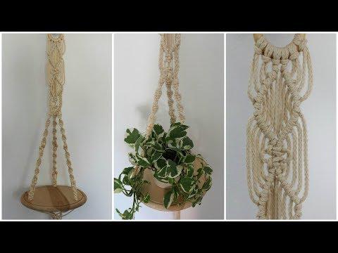 Makramee Blumenampel #6 DIY * Macrame Plant Hanger [eng sub]