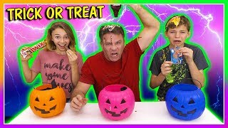 3 WAY TRICK OR TREAT SWITCH UP CHALLENGE | We Are The Davises
