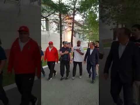 Roy Jones in Kazakhstan Boxing development center