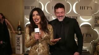 Priyanka Chopra With Jeffrey Dean Morgan  @ GoldenGlobes Awards