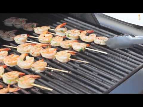 Scampi's van de barbecue