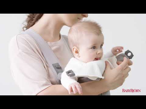 BABYBJÖRN - How to attach the Bib for Baby Carrier Mini