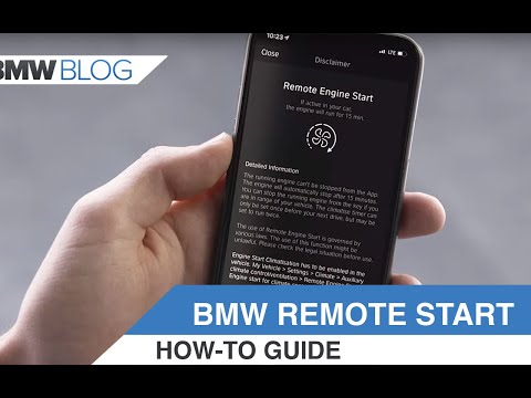 How to use the BMW Remote Engine Start feature