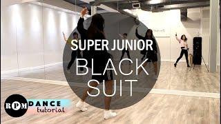 """Super Junior """"Black Suit"""" Dance Tutorial (Chorus)"""