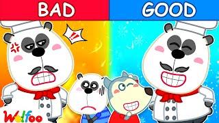 Bad Dad vs Good Dad - Daddy Is My Hero - Wolfoo Kids Stories   Wolfoo Family Kids Cartoon