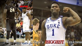 Zion Williamson's BIGGEST Weakness Heading into the NBA Draft!