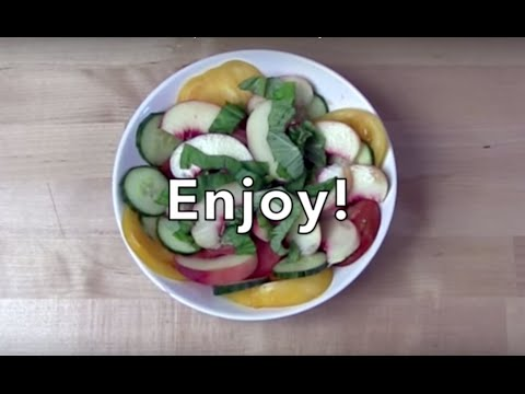 The White Peach and Heirloom Salad Recipe - The FruitGuys