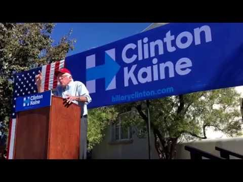 Bernie Sanders campaigns for Hillary Clinton at UNM