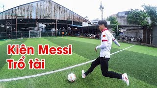 Thử Thách Bóng Đá - Kiên Messi trổ tài sút xà ngang & tâng bóng rê bóng cực kỳ điêu luyện