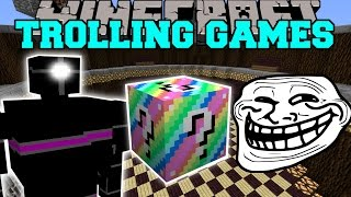 Minecraft: ROBOTS TROLLING GAMES - Lucky Block Mod - Modded Mini-Game