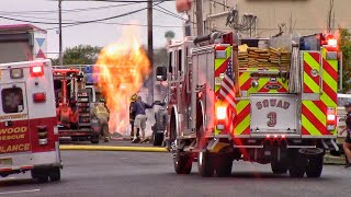 North Wildwood Fire Department Gas Line Fire And Response Videos 5-17-18