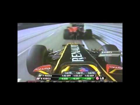 Niezwykły rajd Roberta Kubicy w GP Singapuru