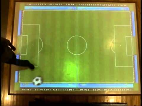 AdVis Interactive Projection System. Soccer Effect.
