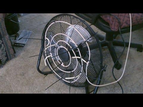 High-Velocity Evap Air Cooler! (w/6 mist nozzles!) - ez fan conversion! - Garage cooling! - ez DIY!